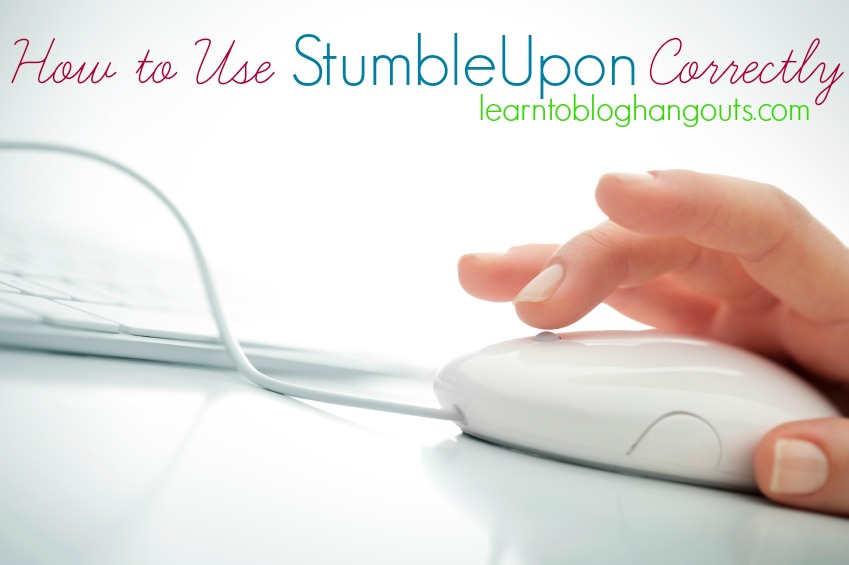 how to use stumbleupon correctly