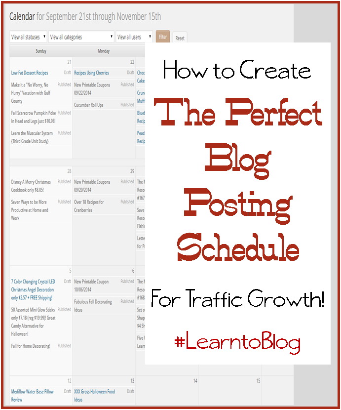 How to Create the Perfect Blog Schedule for Growth