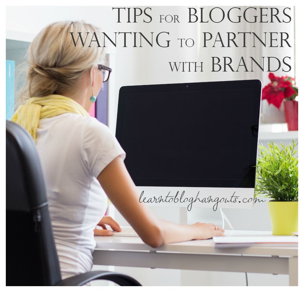 tips for bloggers wanting to partner with brands