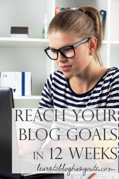 Join the 12 week blog goal challenge exclusively at the Learn to Blog VIP Forum!