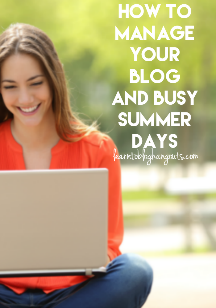Managing your blog during busy summer days can be both stressful and overwhelming. Kelli & Crystal came up with this topic based on their real life struggles.