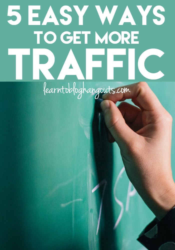 Do you want to grow your traffic? Do you feel like you can't get any traction? Learn five easy ways you can start getting more traffic today.