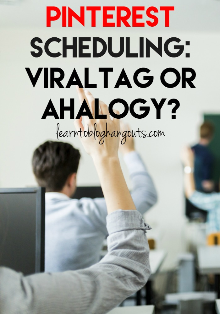 Pinterest can be a great traffic source. But, manual pinning is very time consuming. In this hangout, we will compare two popular Pinterest schedulers: ViralTag and Ahalogy.