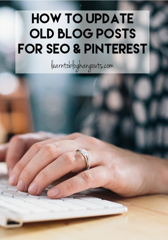 The longer you blog the more you learn that things change. Updating old blog posts for SEO and Pinterest can bring you more traffic with minimal effort.