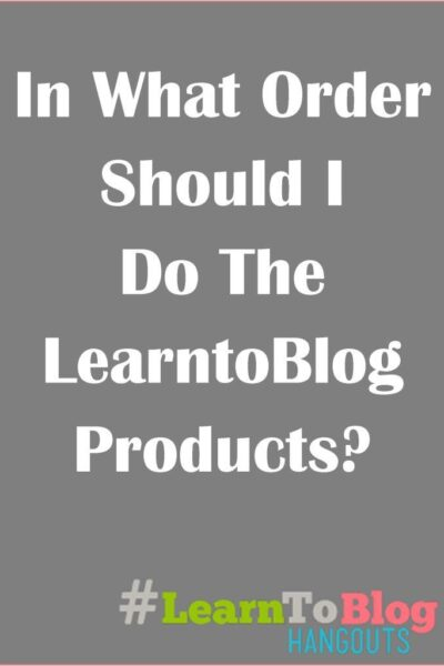 Learntoblog product order