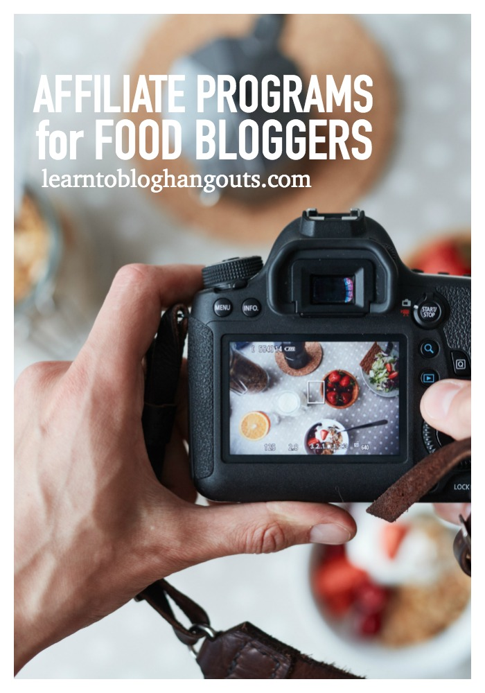 affiliate programs for food bloggers