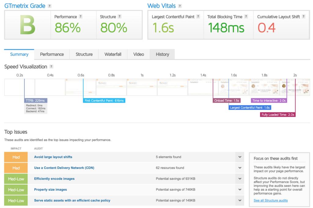 site speed analytics